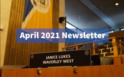 My April 2021 Newsletter
