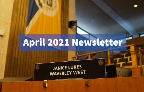 My April 2021 Newsletter